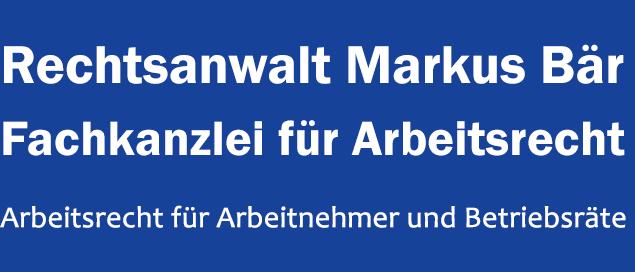 Fachanwalt Arbeitsrecht Markus Bär